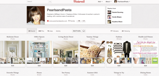 PearlsandPasta on Pinterest